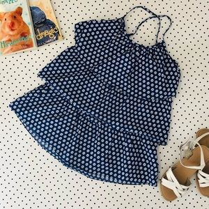 Girls size 7 COUNTRY ROAD navy blue ruffle dress